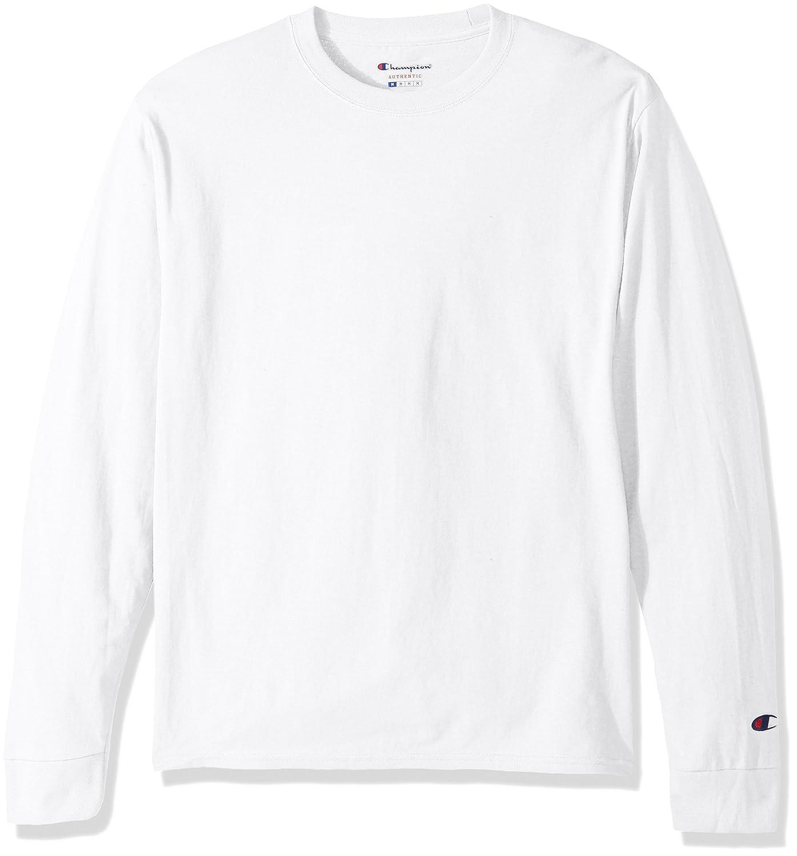 8bcd8bd626257 Amazon.com: Champion LIFE Men's Cotton Long Sleeve Tee: Clothing