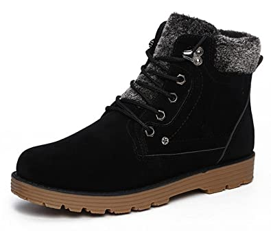 Men's Winter Lace-up Ankle Waterproof Fur Snow Boots