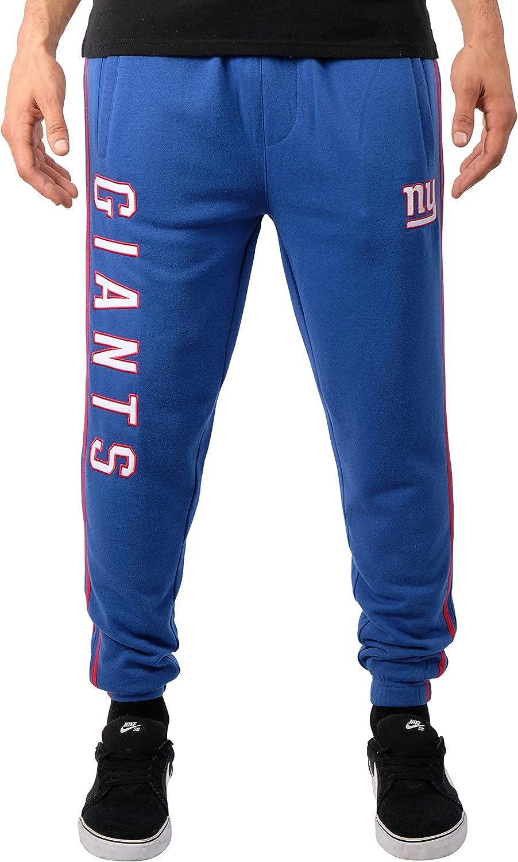 Team Color Stripe Small NFL Ultra Game New York Giants Active Basic Jogger Fleece Pants