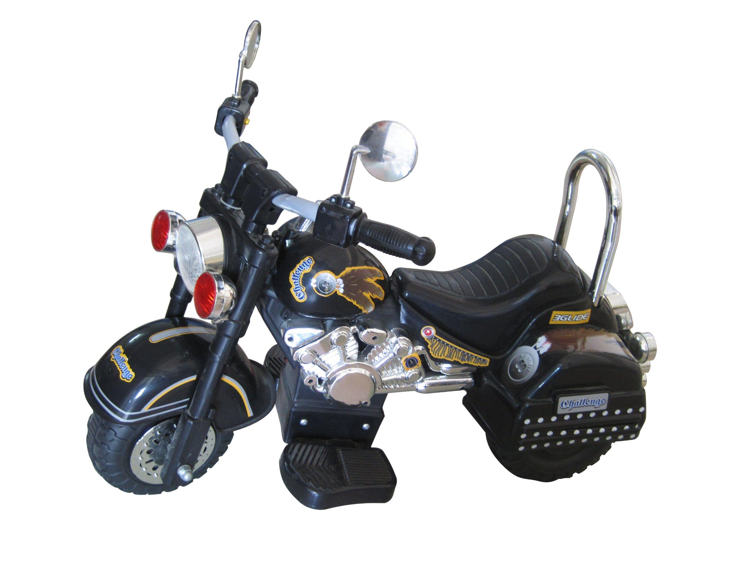 Merske Harley Style 6V Battery Operated Kids Motorcycle, Black by Merske