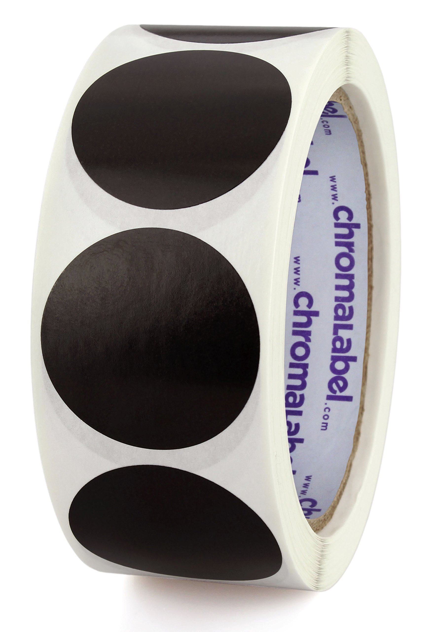 ChromaLabel 1-1/2 inch Color-Code Dot Labels | 500/Roll (Black)