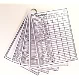 "Yardzee and Yarkle 5"" x 7"" Yard Dice Dry Erase Score Cards - pack of 5, includes 4 Yardzee and 1 Yarkle Scorecards with Rules on back"