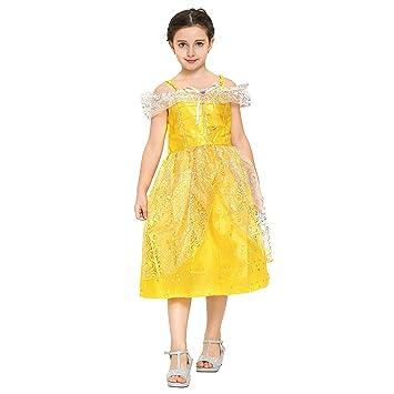8388f3dc16c30 Katara - Robe jaune de déguisement