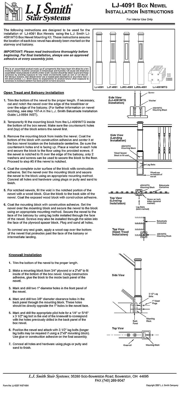 LJRC-4091-H Hemlock 6 1//4 Recessed Panel Box Newel Post