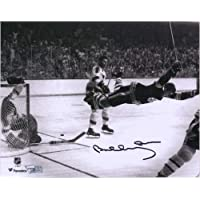 "$195 » Bobby Orr Boston Bruins Autographed 8"" x 10"" The Goal Photograph - Fanatics Authentic Certified - Autographed NHL Photos"