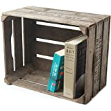 Caja de madera para frutas para usar como mueble