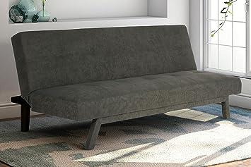 premium austin convertible sofa sleeper futon rich gray microfiber couch bed w  upholstered front amazon    premium austin convertible sofa sleeper futon rich      rh   amazon