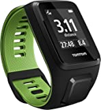 Tom Tom Runner 3 GPS Running Watch with Heart Rate Monitor - Small Strap, Black/Green