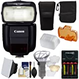 Canon Speedlite 430EX III-RT Flash with Softbox + Bounce Diffuser + Batteries & Charger + Accessory Kit for Rebel T6, T6i, T7i, T6s, EOS 77D, 80D, 7D, 6D, 5D Mark II III IV