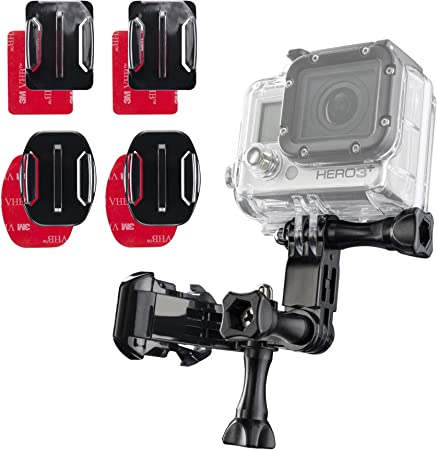 Mantona Klebebefestigungsset Mit Gopro Adapter Kamera
