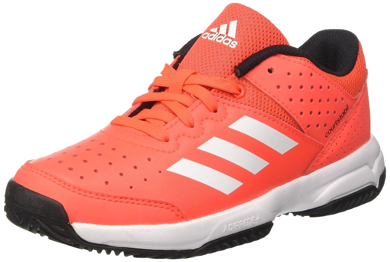 Rouge (Solar rouge Ftwr blanc Core noir) adidas Court Stabil Jr, Chaussures de Handball Mixte Enfant 35 EU