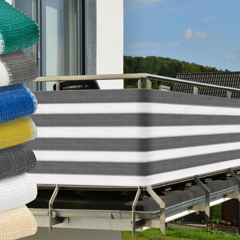 Balkon Sichtschutz 500x90 cm UV Schutz Balkonumspannung mit
