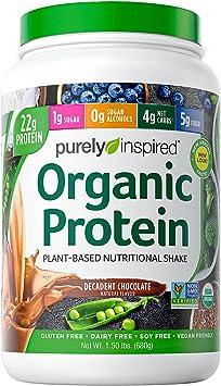 Purely Inspired La Proteína Orgánica - Plant-Based, Decadente Chocolate - 680g 800 g