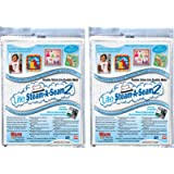 "Warm Company Steam-A-Seam Lite 2 Double Stick Fusible Web 9""X12"" Sheets 5/Pkg (2 Pack)"