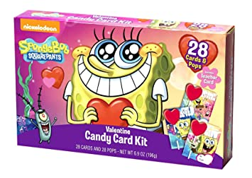 spongebob valentine candy card kit
