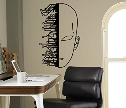 Cyber Technology Wall Vinyl Decal Robot Droid Wall Sticker Home Interior  Living Room Housewares Design Door