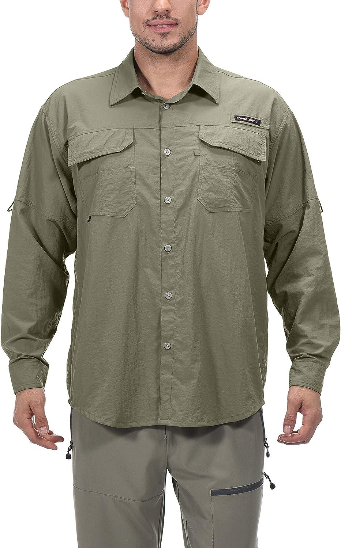 Little Donkey Andy - Camiseta de manga larga para hombre con protección UV UPF 50+, transpirable y de secado rápido