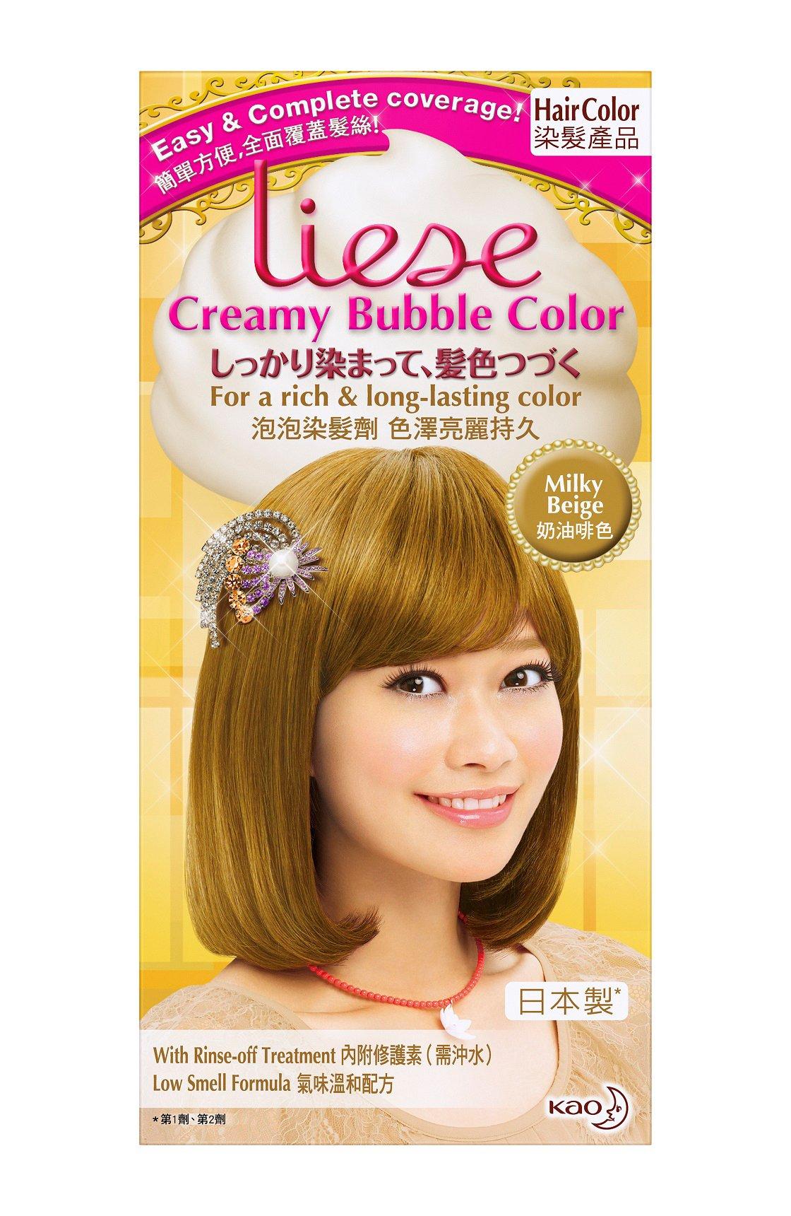 Amazon Kao Liese Soft Bubble Hair Color Milk Tea Brown