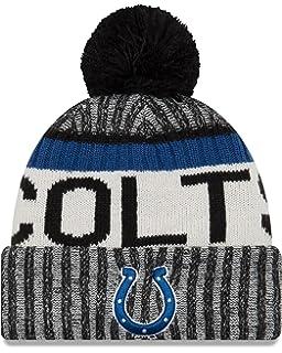 2a314851 New Era Adult Men NFL Cold Weather Reverse Team Sport Knit Beanie, Black,  One