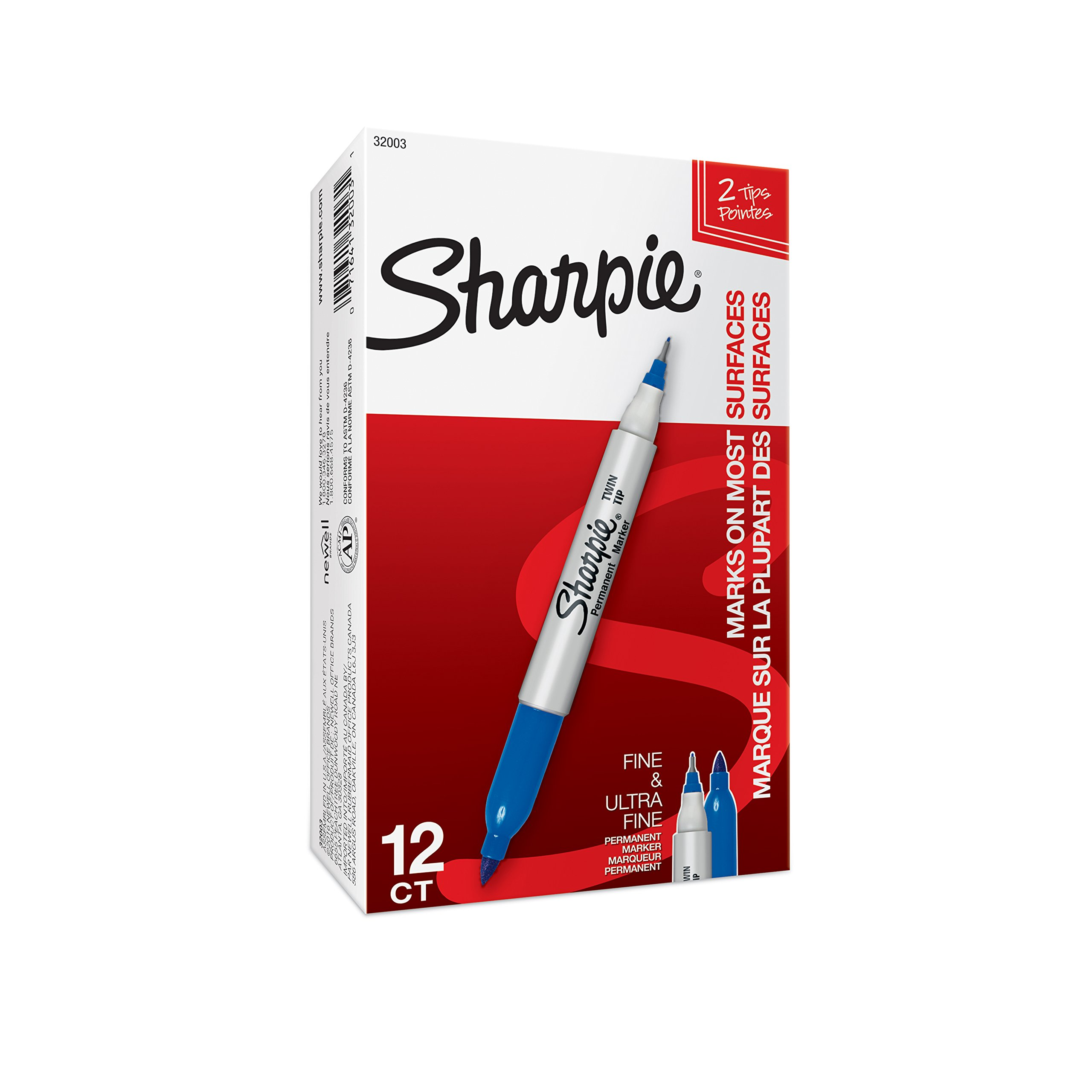 Berry Fine and Ultra Fine 12-Count Sharpie Twin-Tip Permanent Marker