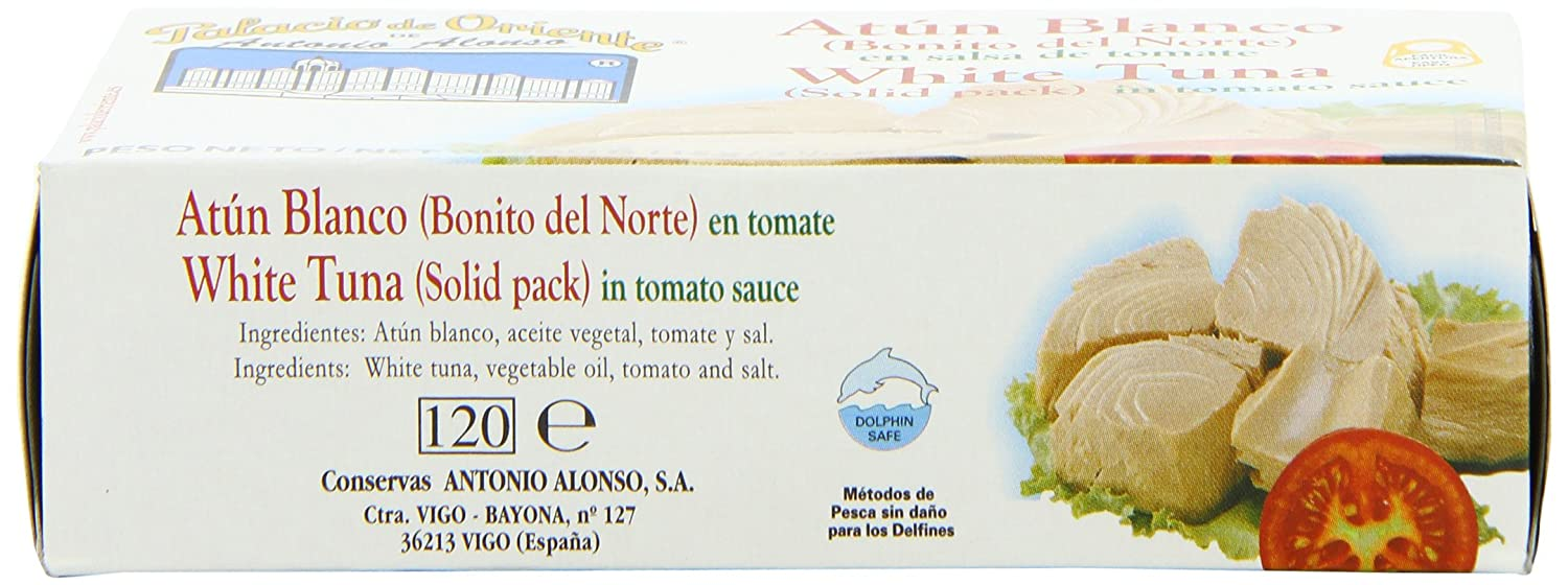 Amazon.com : Antonio Alonso White Tuna in Tomato Sauce, 115 Gram (Pack of 24) : Packaged Tuna Fish : Grocery & Gourmet Food