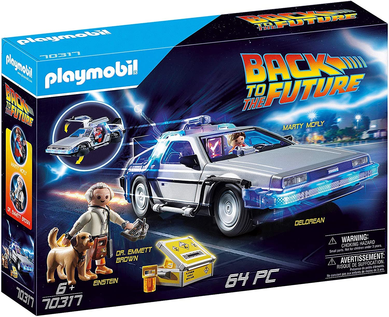 PLAYMOBIL- Back to The Future Delorean con Efectos de Luz, A Partir de 6 Años, Multicolor (70317): Amazon.es: Juguetes y juegos