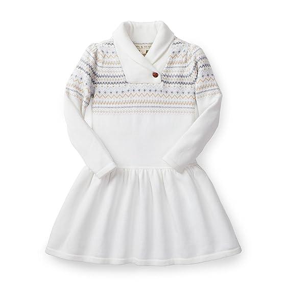 Amazon.com: Hope & Henry Girls' Grey Fair Isle Shawl Collar Dress ...
