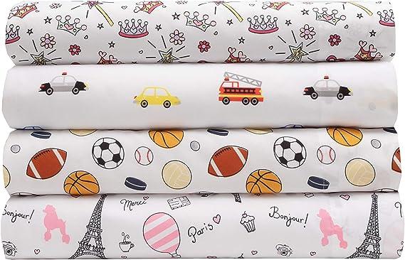 Bonjour Paris MALLARY BY MATTHEW Kids Super-Soft 100/% Microfiber Print Sheet Queen