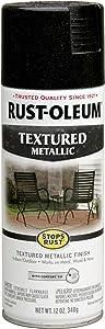 Rust-Oleum 252304 Stops Rust Metallic Textured Spray Paint, 12 Oz, Moonlit Copper