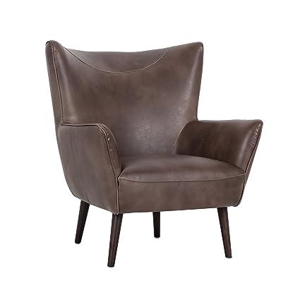 . Amazon com  Sunpan Modern Luther Occasional Chair  Havana Dark Brown