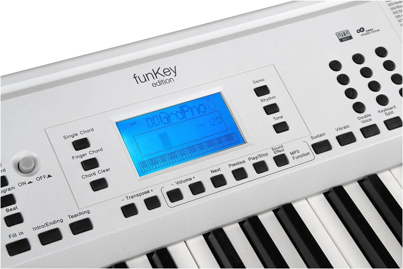 Teclado Edici/ón Pro FunKey 61 color blanco