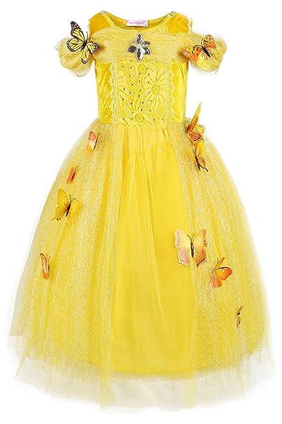 JerrisApparel New Cinderella Dress Princess Costume Butterfly Girl (3 Years Yellow)  sc 1 st  Amazon.com & Amazon.com: JerrisApparel New Cinderella Dress Princess Costume ...