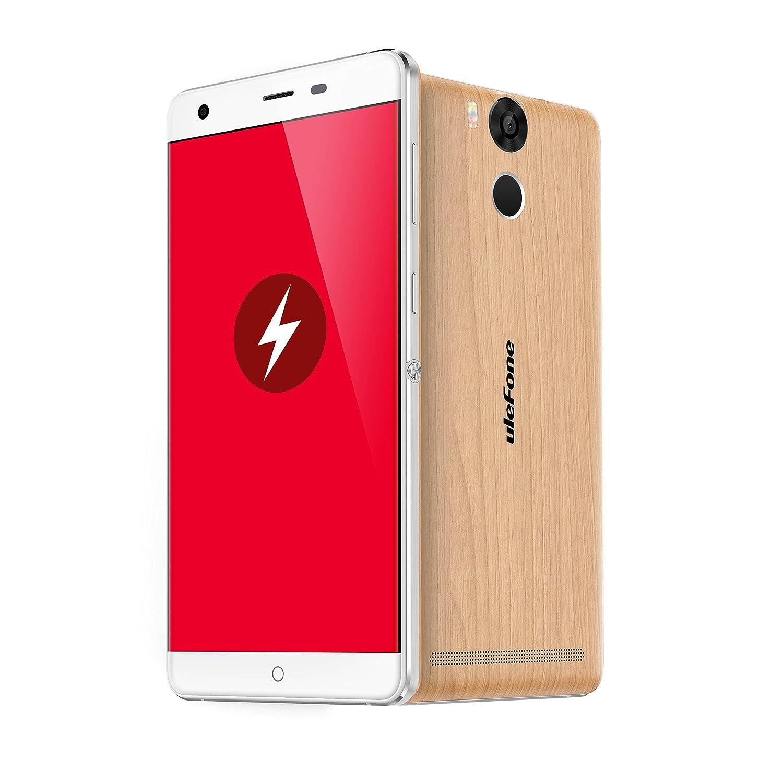Ulefone Power,Android 6.0,6050mAh gran batería,5.5 pulgada FHD 1920*1080 píxeles,3GB RAM+16GB ROM,5MP+13MP caméra,64 Bit MTK6753 Octa Core 1.3GHz ...
