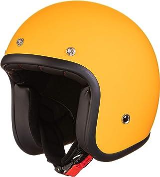 Original Fräulein Irmi Retro Vespa Helm Jet Helm Mit Sonnen Visier Roller Helm Für Frauen Und Herren Im Edlen Vintage Look Qualität Nach Ece Norm Orange Matt Auto