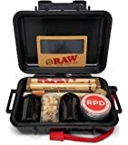 Bundle - 12 Items - Rolling Paper Depot RAW Smoker's Kit - Includes Air-Tight Carrying Case, Rolling Papers, Cigarette…