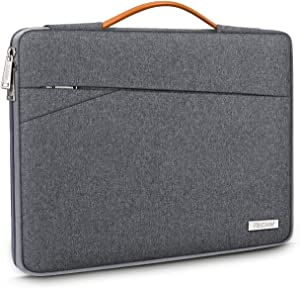 "TECOOL 14 Inch Laptop Sleeve Protective Case Cover with Handle and Front Pockets for HP 14"" HD/Stream/Pavilion, Lenovo 14"" IdeaPad 3 ThinkPad T490, Dell Acer ASUS 14"" Notebooks Chromebooks, Dark Grey"
