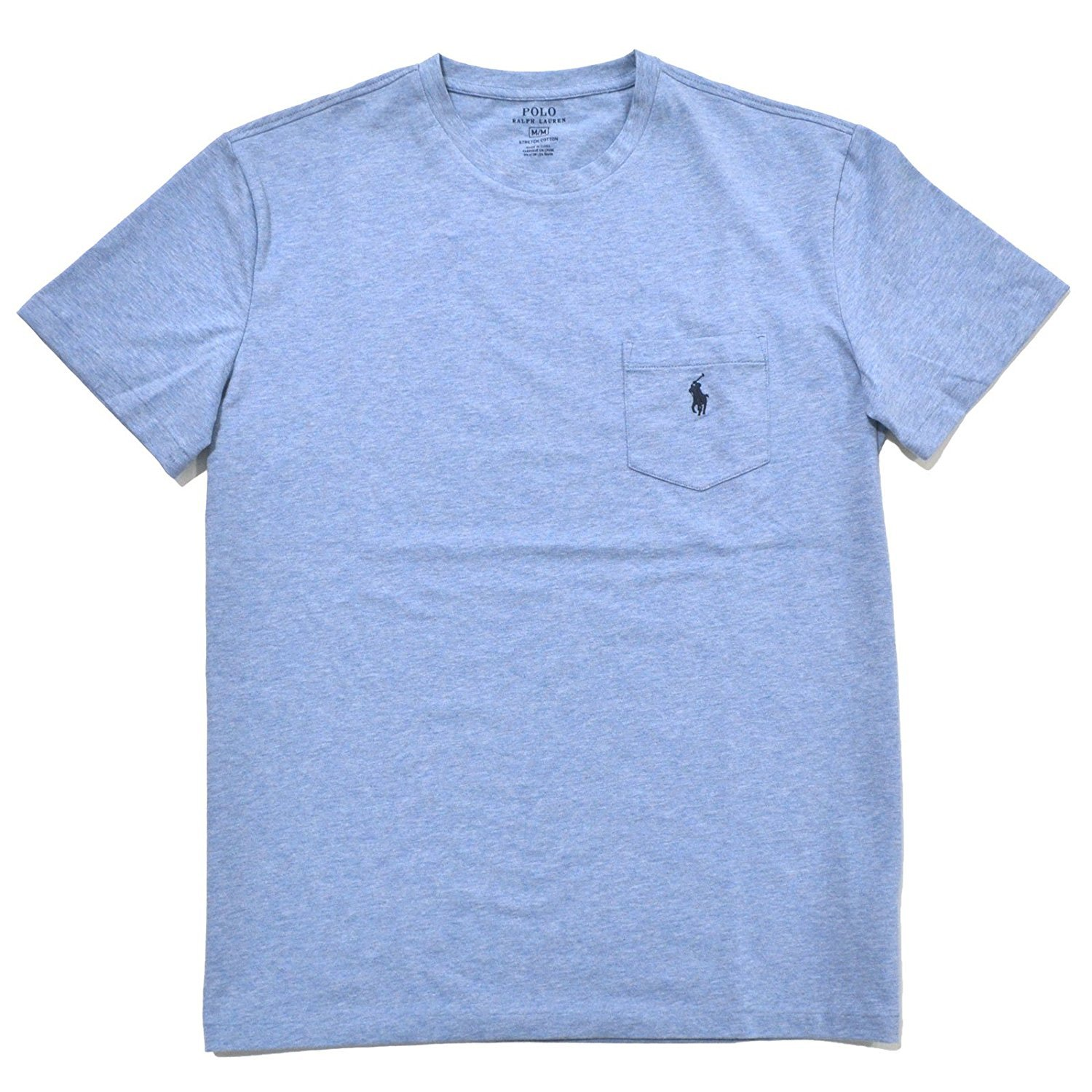 db27b8b4b RALPH LAUREN Polo Mens Stretch Cotton Pocket T-Shirt (Small, Jamaica Blue)  | Amazon.com