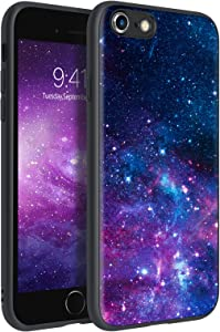 BENTOBEN iPhone 6S Case, iPhone 6 Case, Slim Fit Glow in The Dark Shockproof Protective Hybrid Hard PC Back Soft TPU Bumper Cover Girls Men Women Boys Case for iPhone 6S / 6 (4.7 inch), Space/Nebula