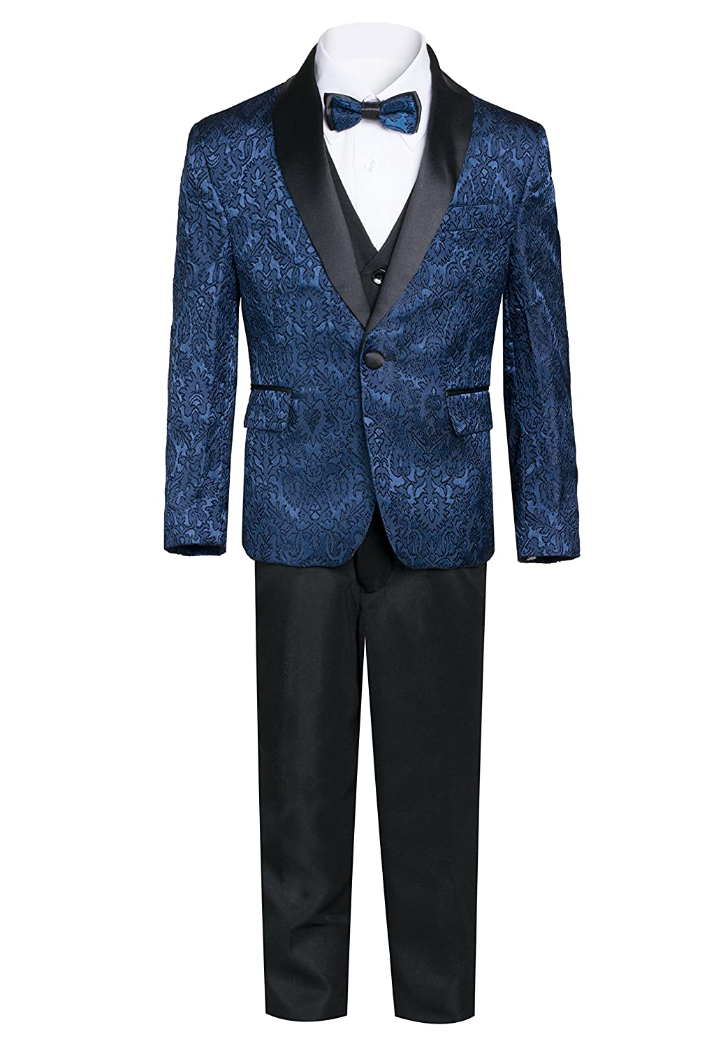 King Formal Wear Boys Premium Paisley Patterned Shawl Lapel Tuxedos - Many Colors