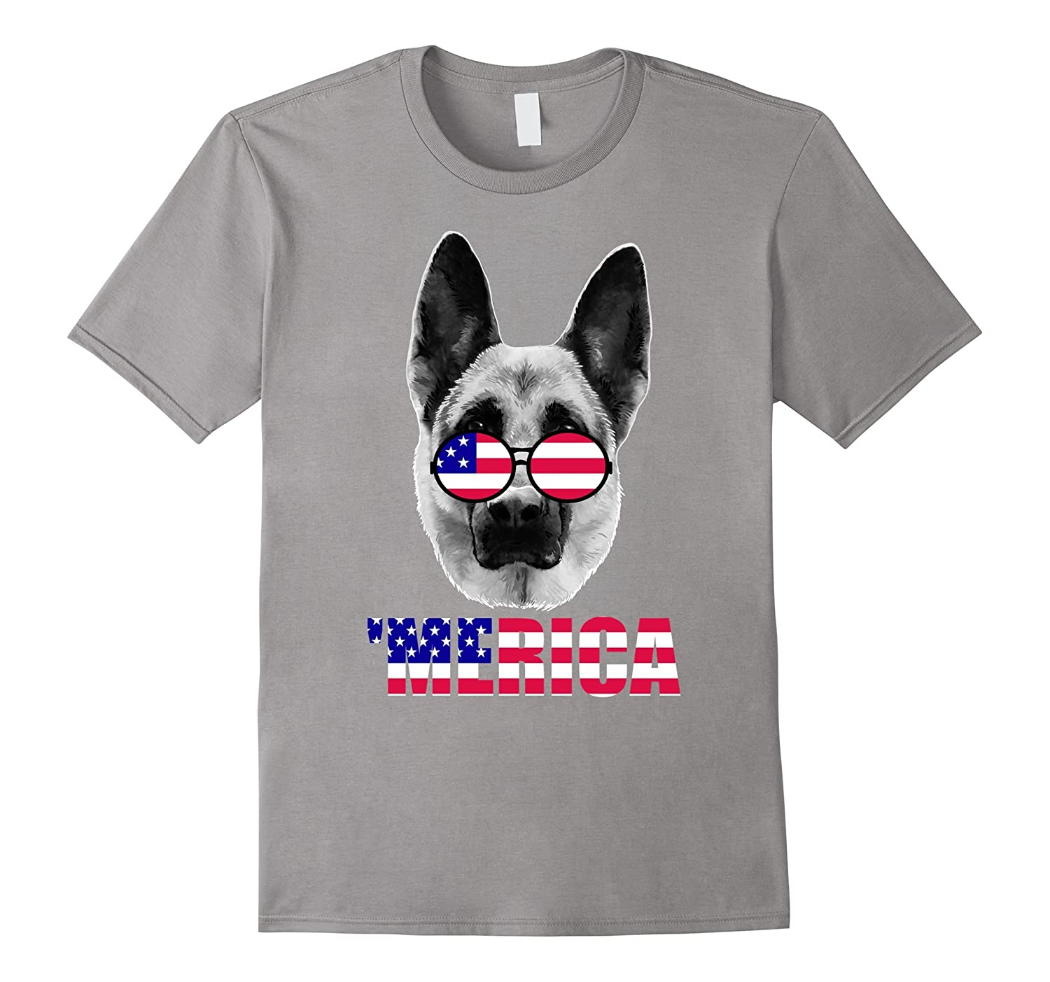 'Merica German Shepard Funny Gift T-shirt-TH