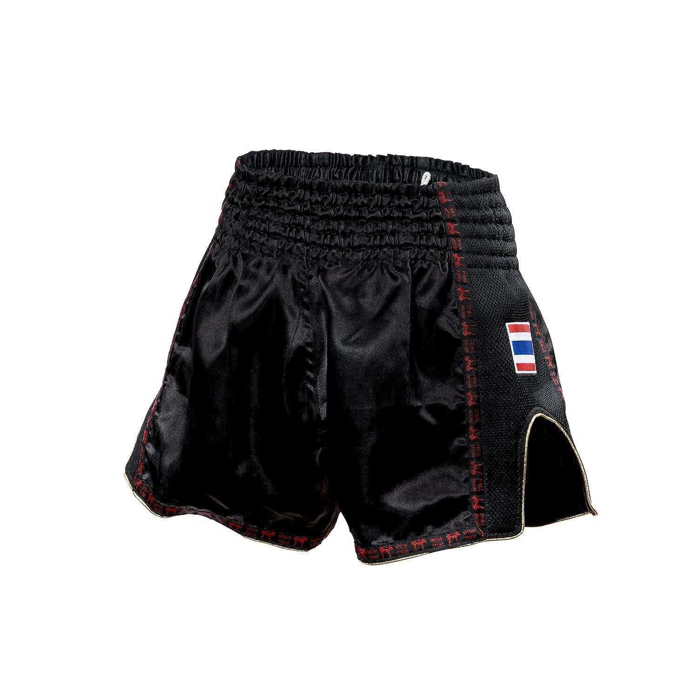 Unisex XL Negro Adulto Leone 1947 AB754 Pantalones Cortos de Kick-Thai