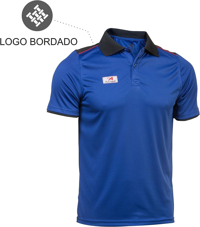 Unisex Asioka Erwachsene 108//17 Technisches Polo-Shirt mit kurzen /Ärmeln