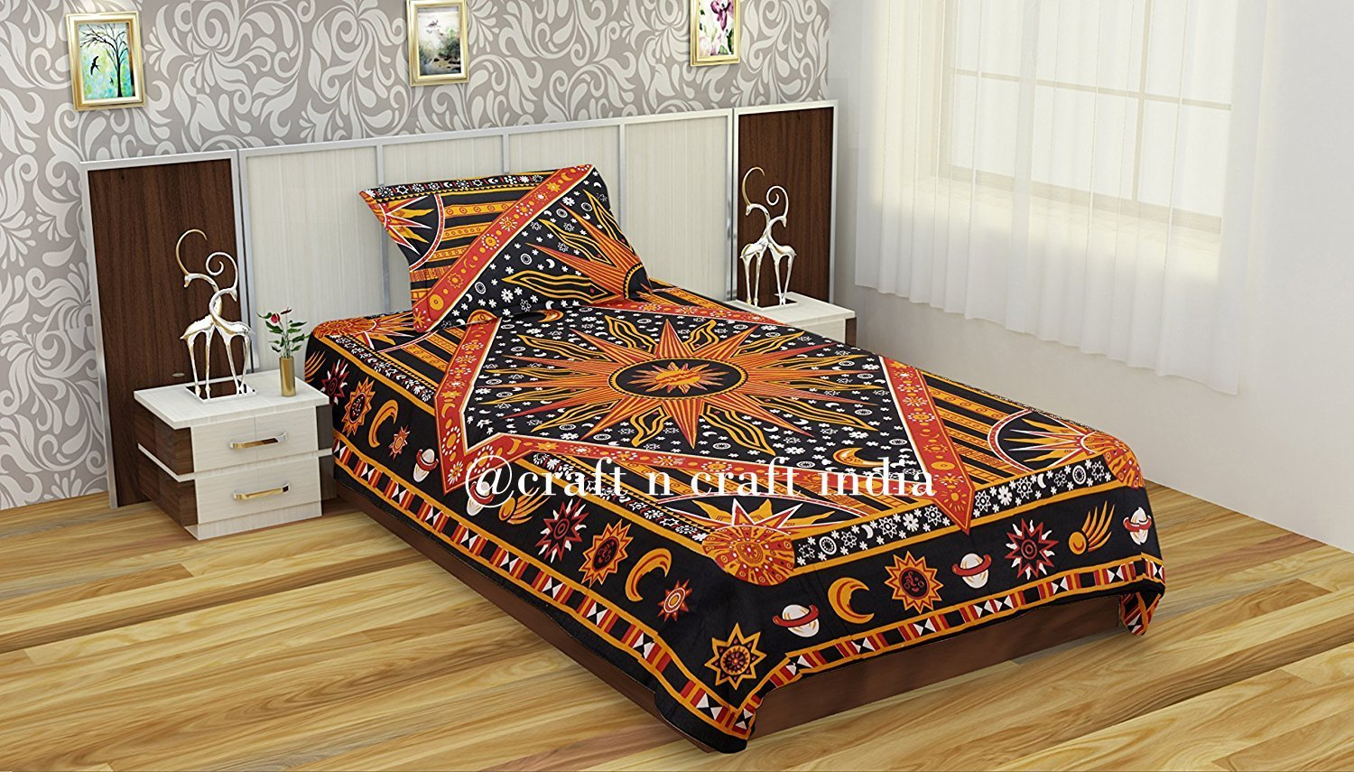 Duvet Cover Mandala Doona Cover Indian Cotton Quilt Cover Duvet Blanket Cover Throw Bedspread (Twin Size) New