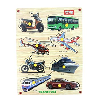Webby Premium Wooden Transport Educational Puzzle Toy