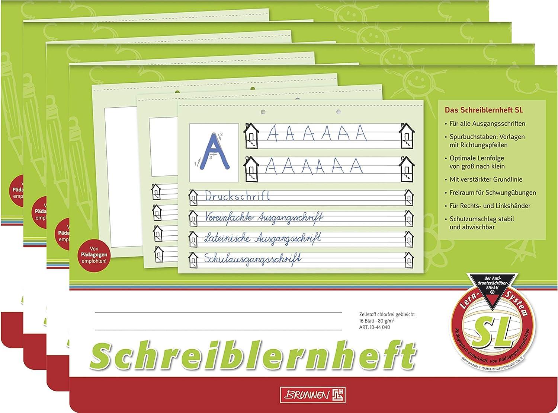 Brunnen Schreiblernheft A4 quer Lineatur 4