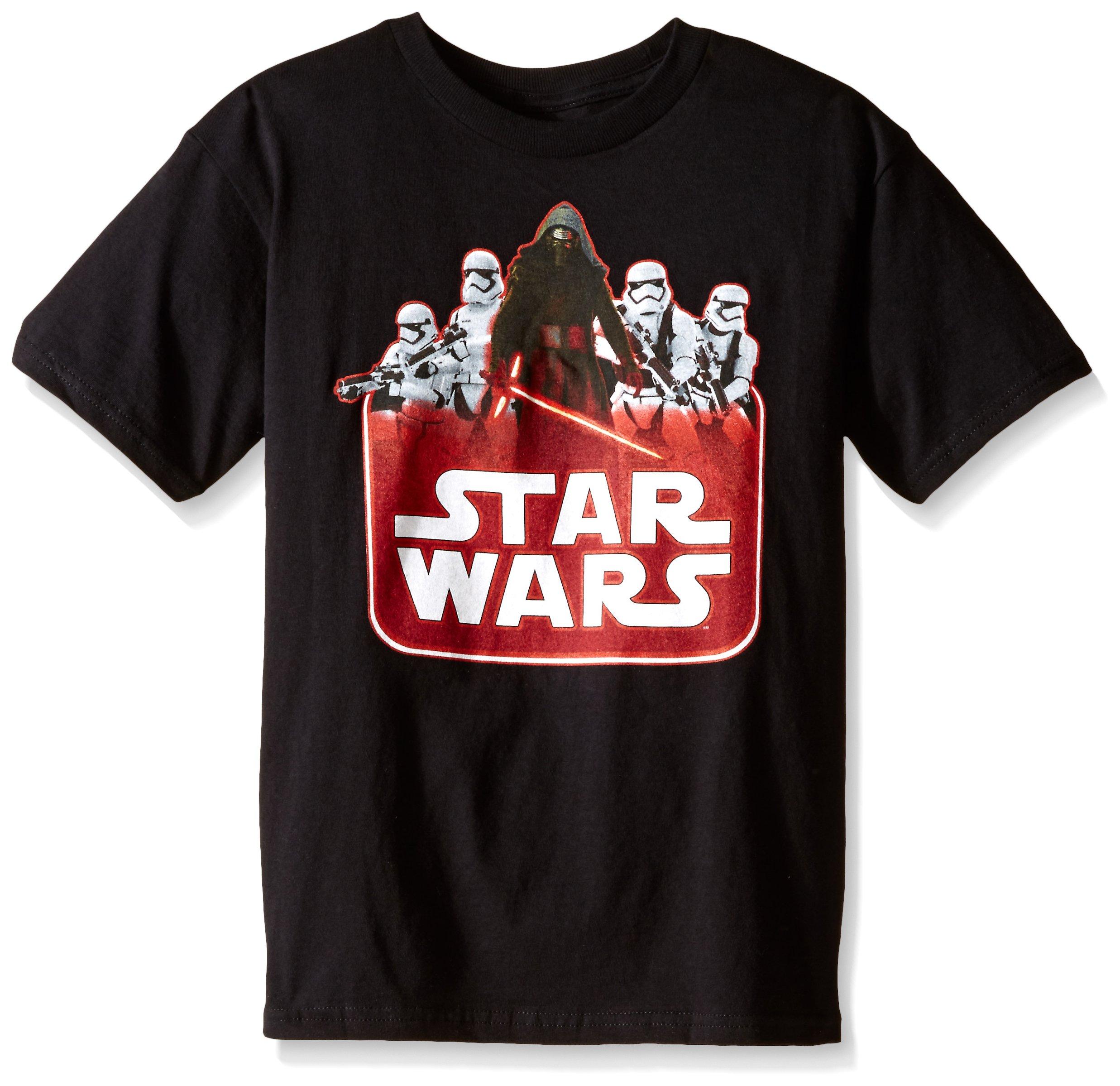 Star Wars Little Boys' Toddler T-Shirt, Logo Black, 2T