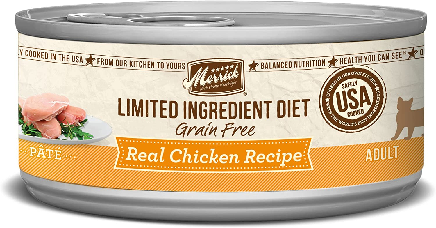 Merrick Grain Free Limited Ingredient Diet Real Meat Adult Wet Cat Food Chicken (24) 2.75oz cans
