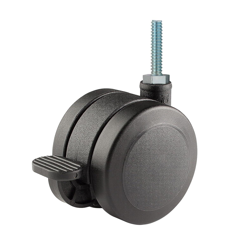 Doble rueda Caster soluciones twun-60u-t03-bk-b 2.36