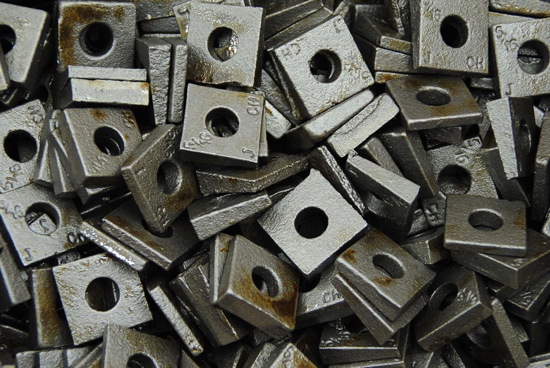 100 Malleable 5//16 Square Bevel Washers I-Beam Flange Wedge
