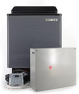 Coasts AM90MID3 Sauna Heater 9 kW 240V CON 4 Digital Controller Galvanized Sheet Shell for Spa Sauna Steam Room